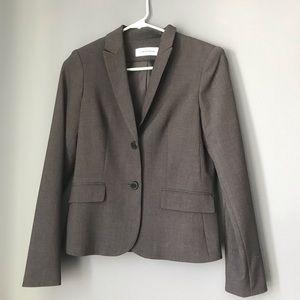 Calvin Klein Gray Button Down Blazer, Size 2